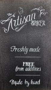 artisan baker sign